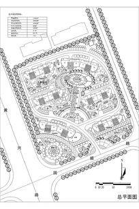 住宅区景观平面图