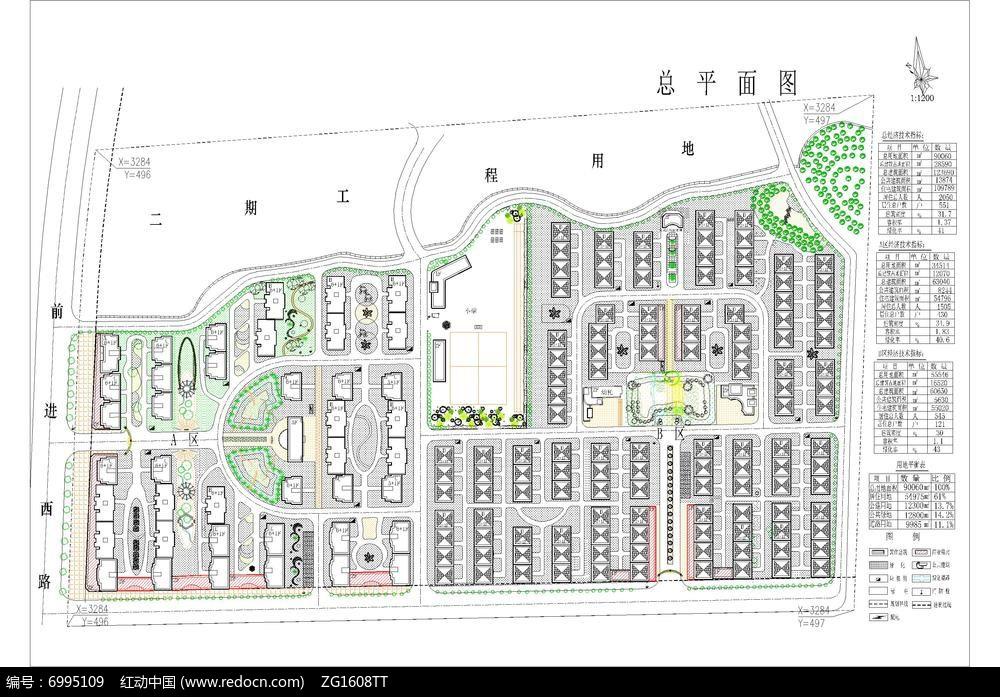 居住小区休闲绿地规划平面图