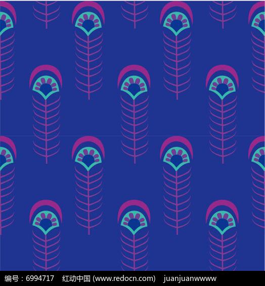 孔雀羽毛底纹图案设计图片