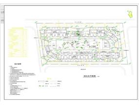 绿化小区总平面图 CAD