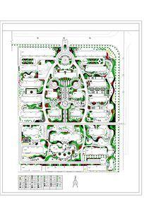 某小区环境设计平面图 CAD