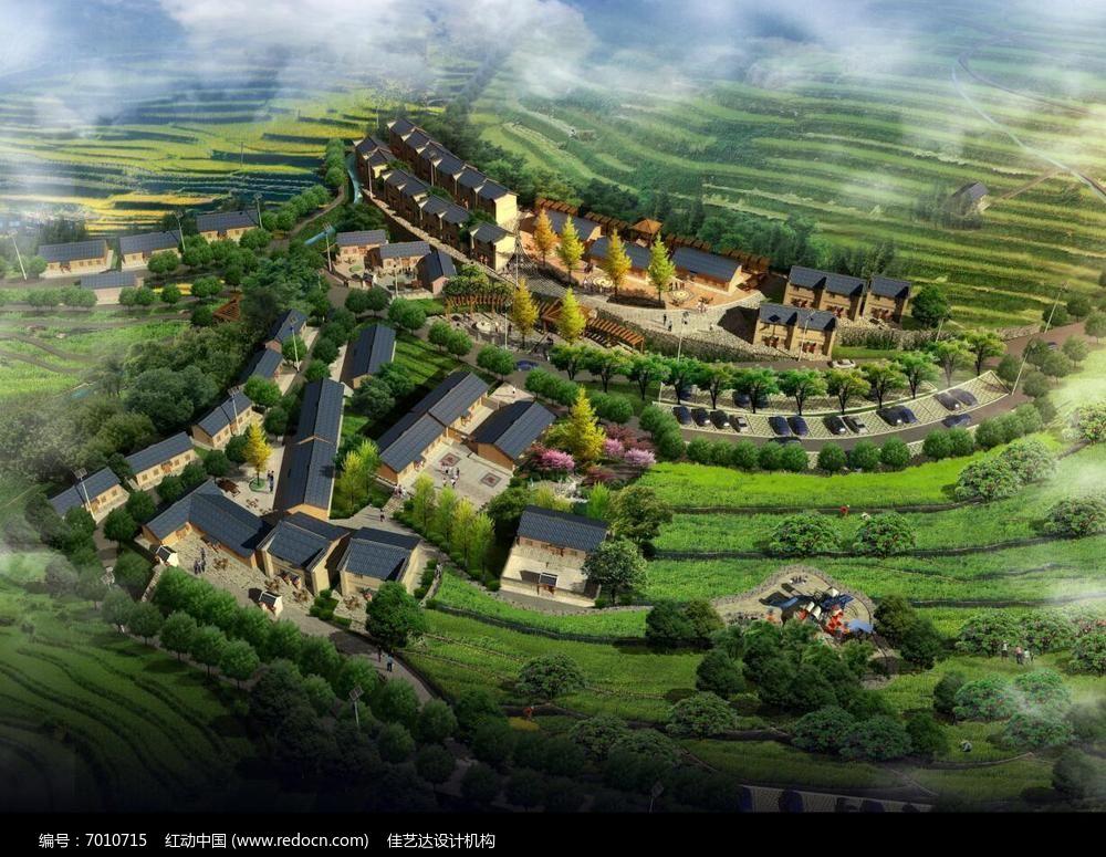 山区规划鸟瞰效果图3图片图片