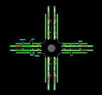 行政区路口绿化配置CAD图 dwg