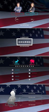 ae竞选投票选举片头模板