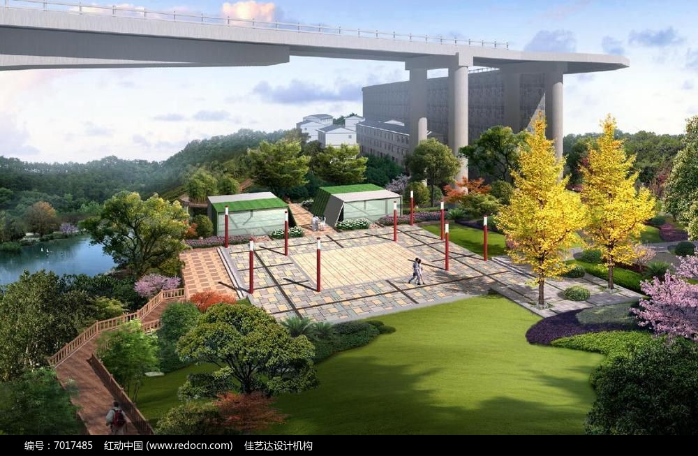 滨水广场景观效果图