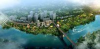 滨水景观设计鸟瞰图