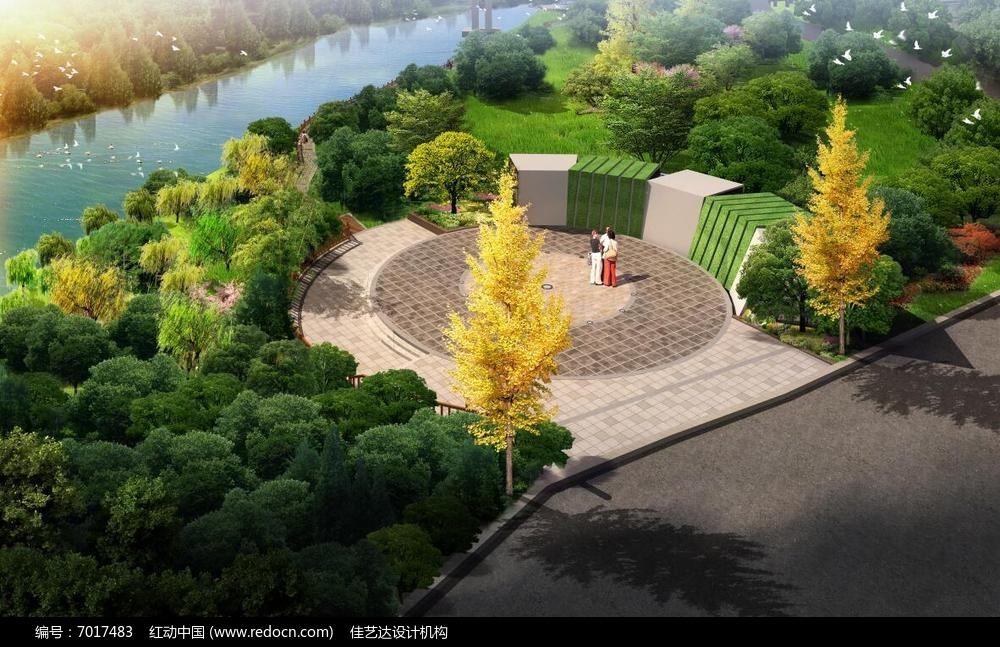 滨水小广场景观设计效果图