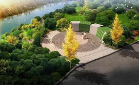 滨水小广场景观设计效果图 PSD