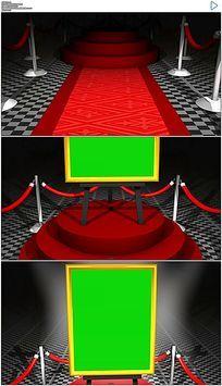 从红毯穿梭到颁奖台绿屏抠像合成视频素材