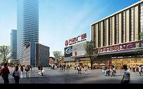 商业广场效果图 PSD