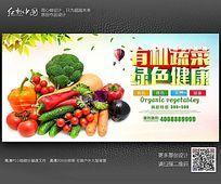 有机蔬菜绿色健康海报设计模板