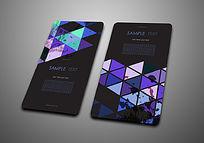 紫蓝色几何图案名片