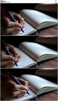 笔记本写字做笔记实拍视频素材