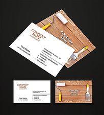 创意装饰装潢公司名片设计