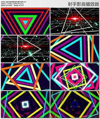 动感三角形穿梭变化舞台背景视频素材