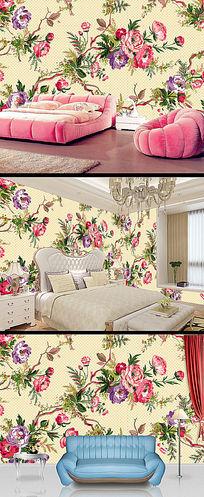 高清漂亮花朵花卉背景墙