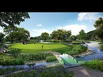公园高尔夫球场PSD PSD
