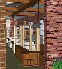红酒酒吧室内模型 skp