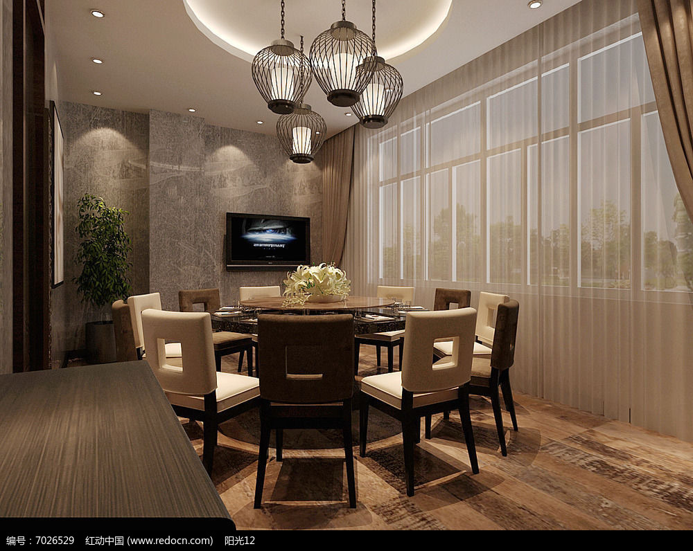 模型室内设计3d餐厅库专辑专辑餐厅模型当前横截v模型沟图片