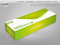 绿色线条背景笔记本电池包装cdr