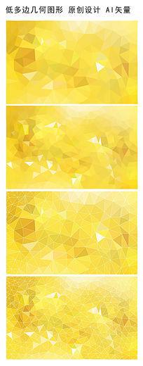 浅黄多边形背景图 AI