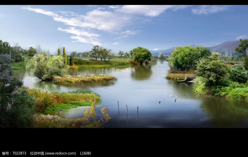 湿地公园效果图图片