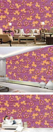 时尚现代图案欧式墙纸