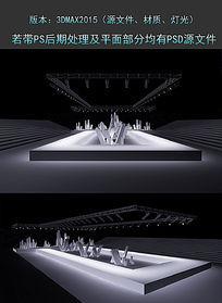 石头服装发布会舞美设计舞台模型下载 max