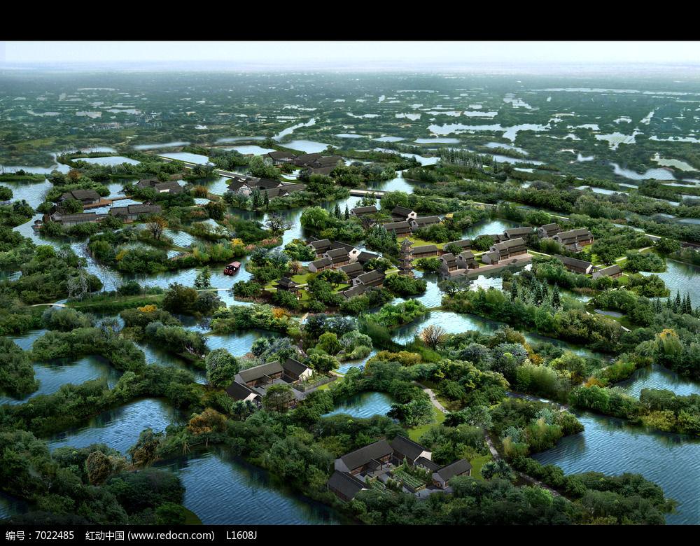 小镇景观绿化PSD图片