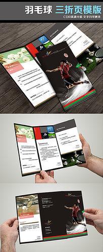 羽毛球健身俱乐部三折页宣传册页