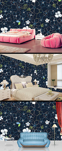 欧式花纹墙纸壁纸 PSD