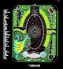 城市综合广场平面规划总平面