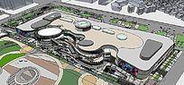 大型商场模型 skp