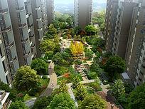 高档小区绿化景观PSD图