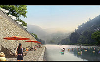 河道景观 PSD