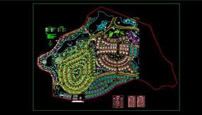 环形规划布局总平面图