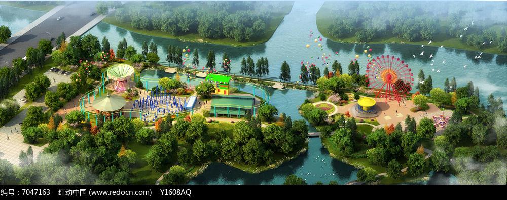 生态儿童游乐园景观效果图