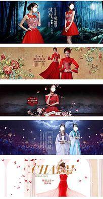 淘宝天猫伴娘装婚纱海报模板