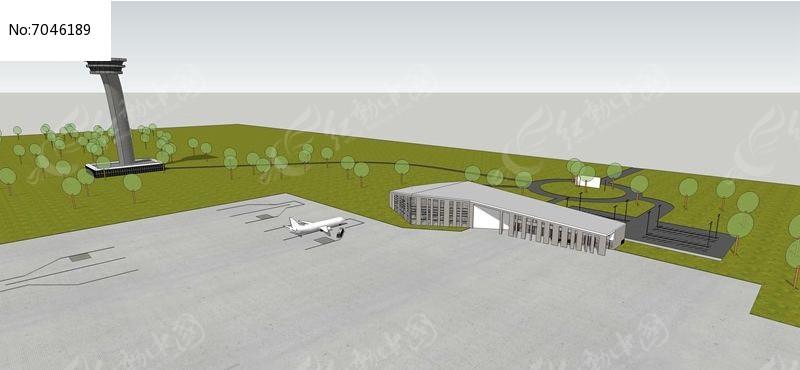 小型飞机场素材下载_建筑设计图片