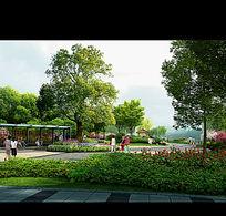 主题公园景观PSD