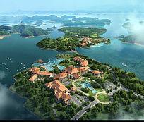 滨海度假别墅景观鸟瞰