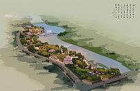 滨水绿地鸟瞰图