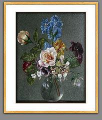 高清古典花卉静物油画