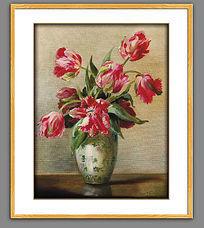 古典欧式花卉油画