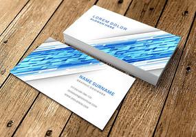 蓝色科技动感名片设计