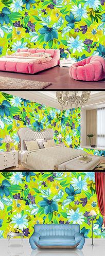 绿色清新植物花卉墙纸