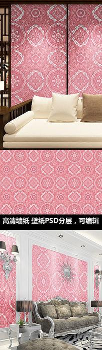 欧式花纹欧式图案墙纸