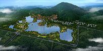 生态滨湖公园鸟瞰 PSD