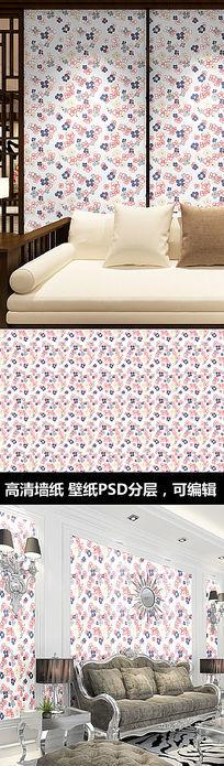 碎花花纹墙纸 PSD