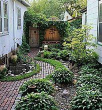 庭院旱水水景意向图